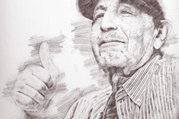 szkic dziadka