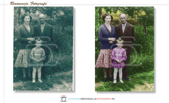 Kolorowanie zdjęć - Cyfrowa Renowacja Fotografii