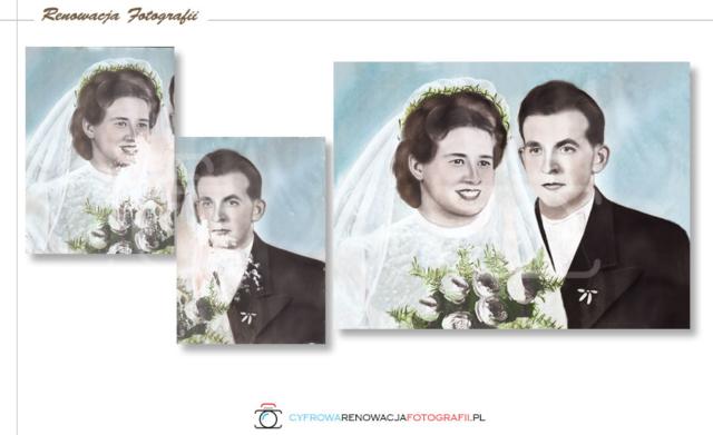 Renowacja łączenie obrazów - Cyfrowa Renowacja Fotografii