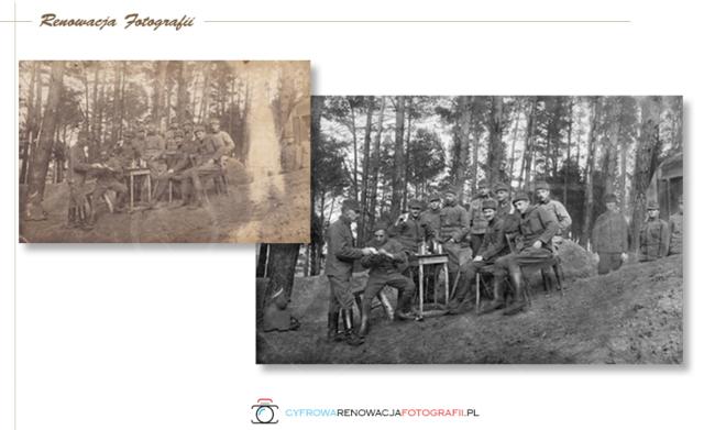 Renowacji  wyblakniętej fotografii z XX w.  Galicja 1916 r.