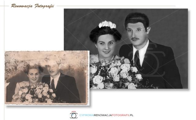 Renowacja zdjęcia - odzyskanie dużej części głowy i twarzy