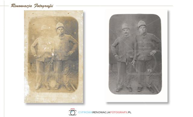 Renowacja wyblakłej fotografii - Cyfrowa Renowacja Fotografii - Galicja