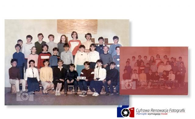 Odnowienie zdjęcia grupowego lata 80-te XX w.
