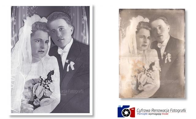 Odnowienie fotografii ślubnej