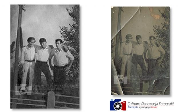 Naprawa fotografii - lata 50-te XX w.