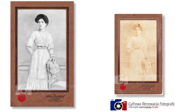 Odnowienie portretu XIX w. - Renowacja Fotografii