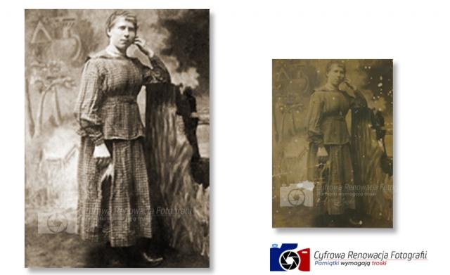 Renowacja portretu XIX w.