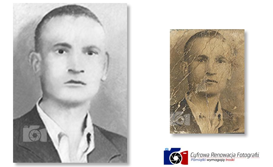 Renowacja portretu mężczyzny