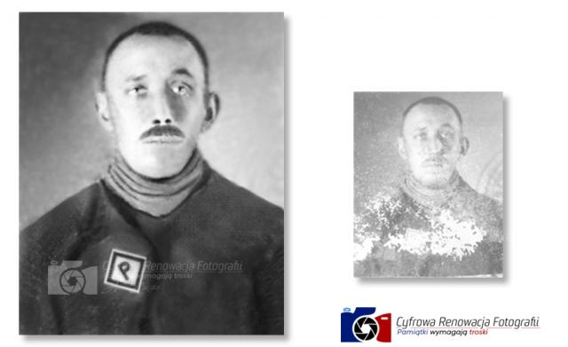 Portret z  obozy koncentracyjnego XX w.
