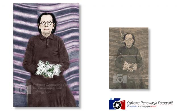 Rekonstrukcja i kolorowanie portretu
