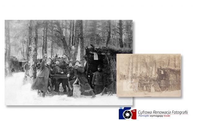 Odnowienie zdjęcia żołnierzy