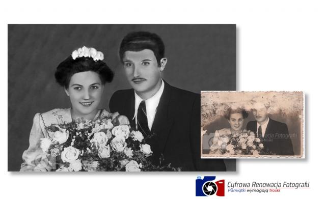 Rekonstrukcja zdjęcia ślubnego