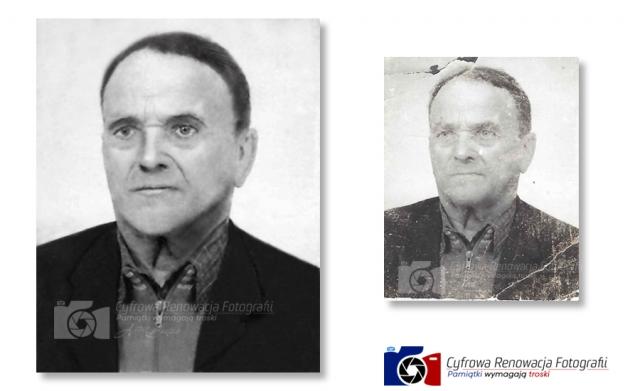 Renowacja portretu - www.cyfrowarenowacjafotografii.pl