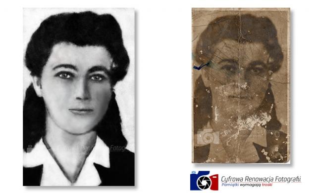 Rekonstrukcja bardzo zniszczonego portretu kobiety